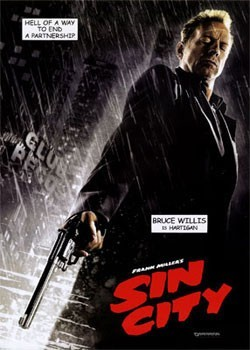 SIN CITY - hartigan плакат