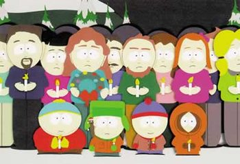 SOUTH PARK - kids in front of group - плакат