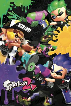 Splatoon 2 - 3 Way Battle A плакат