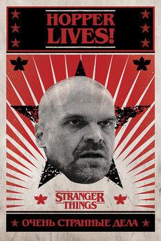 Stranger Things - Hopper Lives плакат