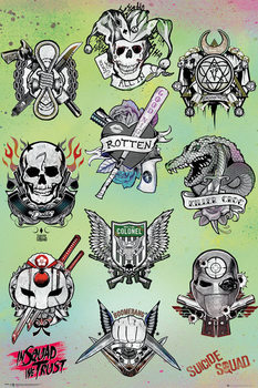 Suicide Squad - Tattoo Parlor плакат