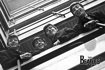 The Beatles - balcony - плакат