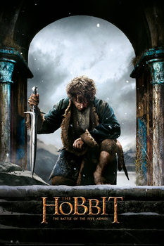 The Hobbit 3: Battle of Five Armies - Bilbo плакат
