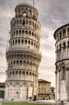 The Leaning Tower of Pisa плакат
