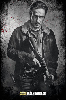 The Walking Dead - Rick b&w - плакат