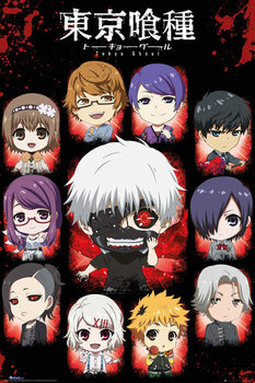 Tokyo Ghoul - Chibi Characters плакат