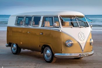Volkswagen - Brendan Ray Gold Kombi III плакат