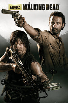 WALKING DEAD - rick&daryl плакат