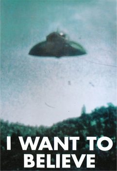 X-FILES - i want to believe - плакат