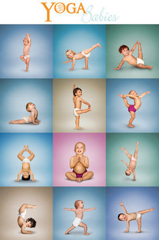 Yoga - Babies Grid - плакат