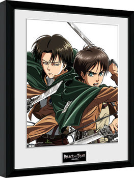 Attack On Titan - Levi Рамкиран плакат