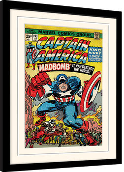 Captain America - Madbomb Рамкиран плакат