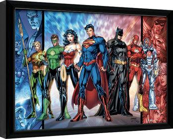 DC Comics - Justice League United Рамкиран плакат
