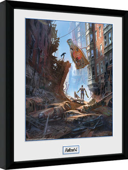 Fallout 4 - Street Scene Рамкиран плакат