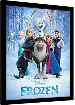 Frozen - Cast Рамкиран плакат