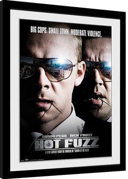 Hot Fuzz - Close Up Рамкиран плакат