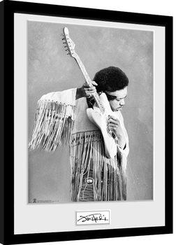 Jimi Hendrix - Pose Рамкиран плакат