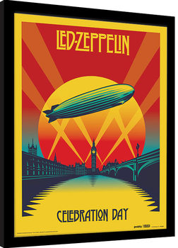 Led Zeppelin - Celebration Day Рамкиран плакат