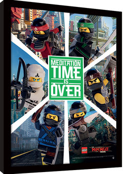 LEGO® Ninjago Movie - Six Ninjas Рамкиран плакат