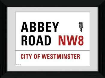 London - Abbey Road Рамкиран плакат
