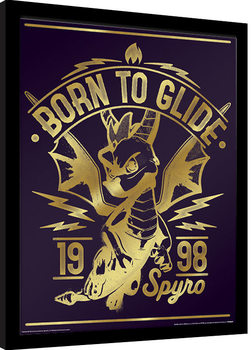 Spyro - Gold Born To Glide Рамкиран плакат
