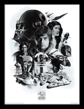 Star Wars 40th Anniversary - Montage Рамкиран плакат
