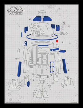 Star Wars The Last Jedi - R2-D2 Exploded View Рамкиран плакат