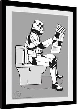 Stormtrooper - Storm Pooper Рамкиран плакат