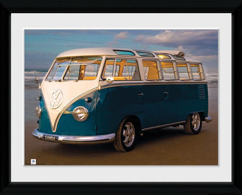 VW Brendan Ray - Blue Kombi Рамкиран плакат