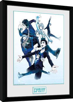 Yuri On Ice - Characters Skate Рамкиран плакат