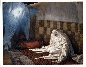 Annunciation, illustration for 'The Life of Christ', c.1886-96 Художествено Изкуство