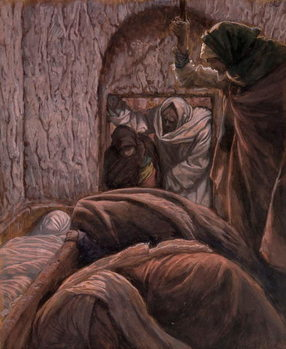 Jesus in the Tomb, illustration for 'The Life of Christ', c.1884-96 Художествено Изкуство