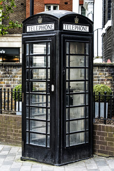 художествена фотография Old Black Telephone Booth