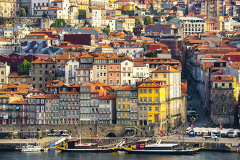 художествена фотография Porto The Beautiful Ribeira District at Sunrise