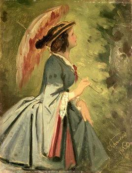 Portrait of Anna, the artist's daughter, 1860 Художествено Изкуство