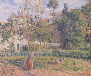 Vegetable Garden at the Hermitage, Pontoise, 1879 Художествено Изкуство