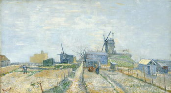 Vegetable Gardens and the Moulin de Blute-Fin on Montmartre, 1887 Художествено Изкуство