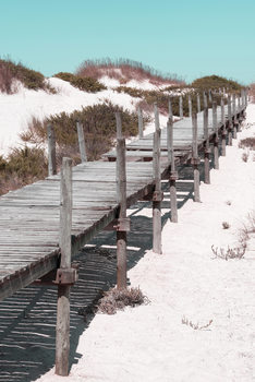 художествена фотография Wooden Pier on the Beach