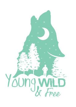 художествена фотография Young, Wild & Free - Blue
