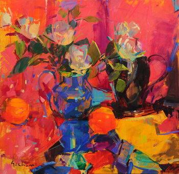 Blue and Rose Художествено Изкуство