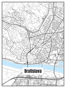 Карта на Bratislava