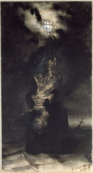 Casquets Lighthouse, 1866 Художествено Изкуство