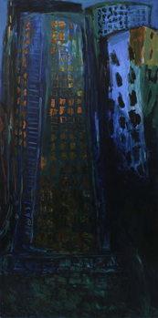 City - Night Художествено Изкуство