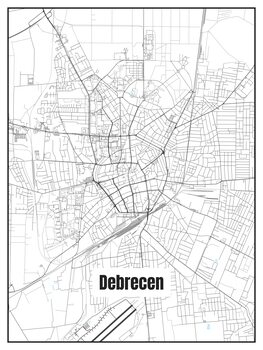 Карта на Debrecen