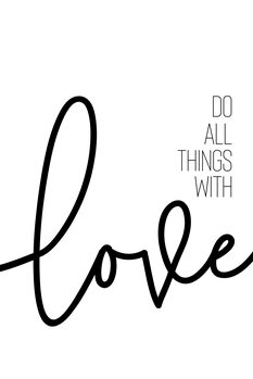 илюстрация Do all things with love