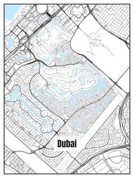Карта на Dubai