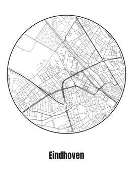 Карта на Eindhoven