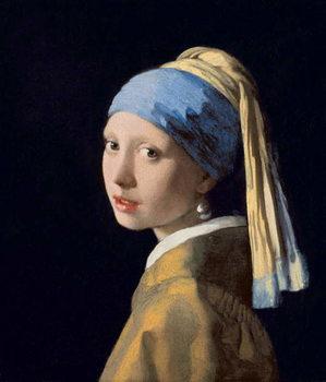 Girl with a Pearl Earring, c.1665-6 Художествено Изкуство