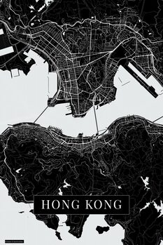 Карта на Hong Kong black
