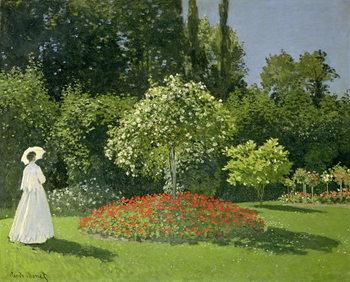 Jeanne Marie Lecadre in the Garden, 1866 Художествено Изкуство